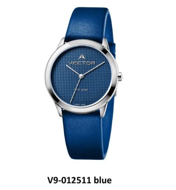 שעון יד מבית VECTOR, קולקציית 'כחולי השמיים' שילוב קלאסי של כחול וכסוף מודרני. דגם V9-012511 blue Высококлассные элегантные классические часы