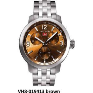 שעון יד ממותג VECTOR בסדרת השעונים 'אינדסטריאל מן'. עוצמתי לולאות ברזל חום מטאלי. דגם VH8-019413 brown Классические роскошные наручные часы от VECTOR для онлайн-заказа