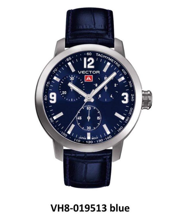שעון יד ממותג VECTOR בסדרת השעונים 'אינדסטריאל מן'. רצועות עור וגווני כחול מטורפים לגבר עוצמתי אבל עם עדינות. דגם VH8-019513 blue Классические роскошные наручные часы от VECTOR для онлайн-заказа