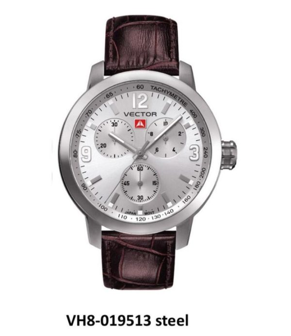 שעון יד ממותג VECTOR בסדרת השעונים 'אינדסטריאל מן'. שעון קלאסי לגבר-גבר. דגם VH8-019513 steel Классические роскошные наручные часы от VECTOR для онлайн-заказа
