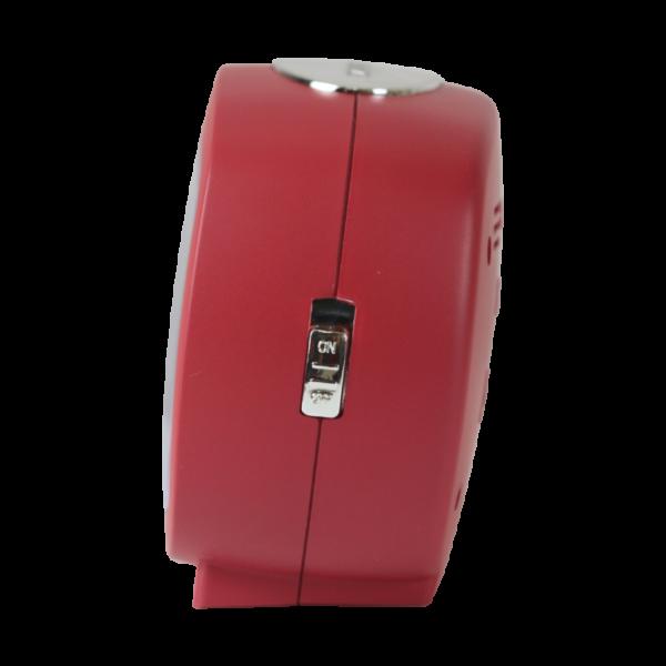 שעון מעורר אליפסי אדום, מסדרת גולף שקט 2000 עם תצוגה מוארת וברורה, דגם BB09007-RE
