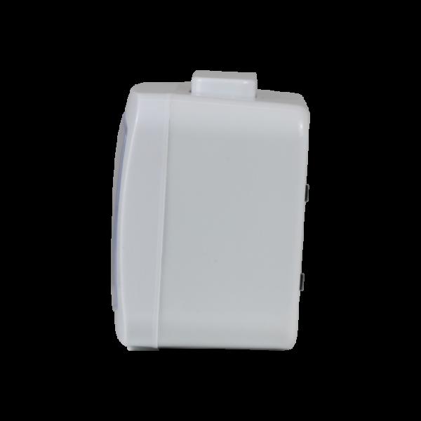 BM09402-WH שעון מעורר לבן, זוהר בחושך, מצלצל דקה אחת ומפסיק - מתאים לשבת! מסדרת גולף שקט 2000