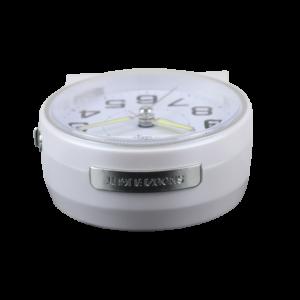 BM10603-30 שעון מעורר זוהר באור כחול ונעים בחושך. מצלצל לדקה אחת בלבד - מתאים לשבת! ביעיצוב נקי לשידה שעל יד המיטה. קולקציית גולף שקט 2000