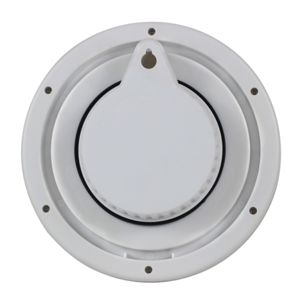 שעון אמבטיה וג'קוזי ובריכות מקורות - אטום למים ועדים. מעוצב עגול נקי, עם  אחרי דקה - מתאים בצבע לבן קלאסי מדגם גולף 2000 שקט WC17801 \ 7008