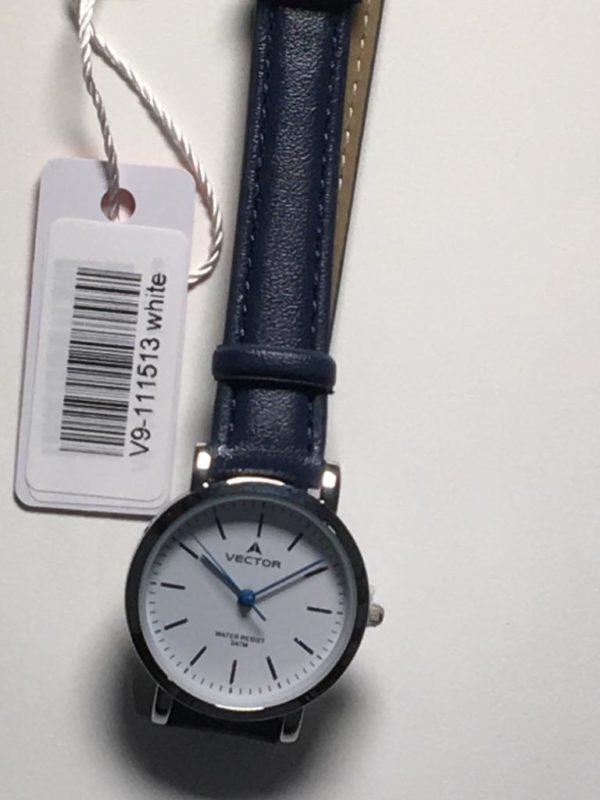 שעון יד עדין עם רצועות עור מבית וקטור דגם ימי 2021 V9-111513WHITE