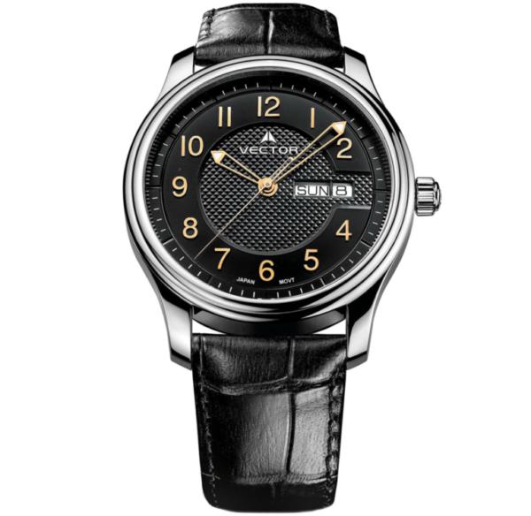 שעון יד VECTOR – קלאסי יוקרתי – קולקציית קיץ 2021 - VC8-052512 black – דגם