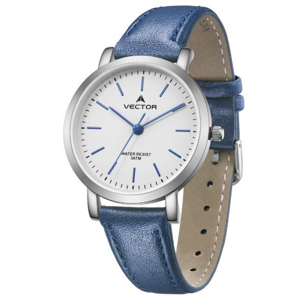 שעון יד רצועות עור כחולות מהממות קלאסי   קיץ 2021   V11-2