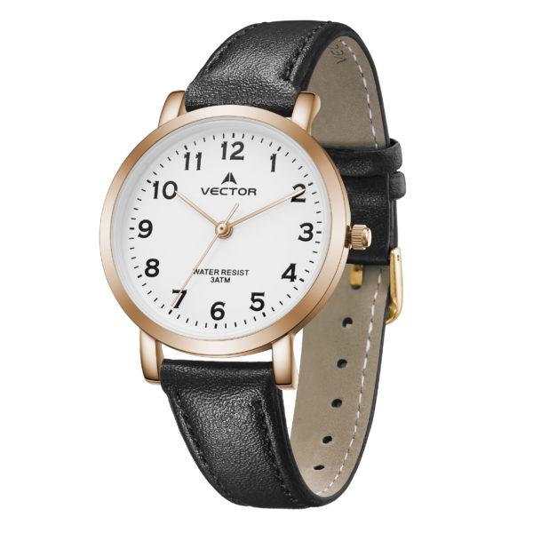 שעון יד רצועות עור שחורות יוקרתיות קלאסי   קיץ 2021   V11-3