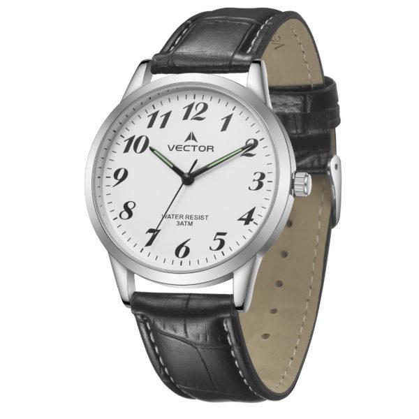 שעון יד רצועות עור צבע כהה עמוק במודל קלאסי   קיץ 2021   V12-2