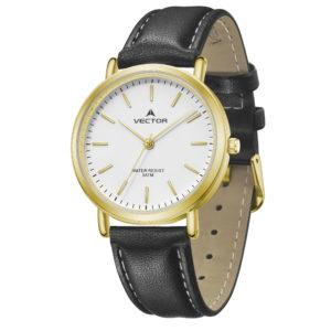 סדרת קיץ 2021 קלאסי-קלאסי מבית VECTOR | דגם שעון יד V13-1 רצועות עור שחורות