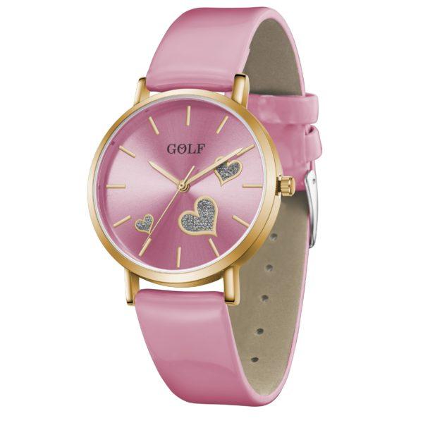 שעון יד מדגם GOLF-TRUE-HEART G3-1 בצבע ורוד | קולקציית קיץ 2021