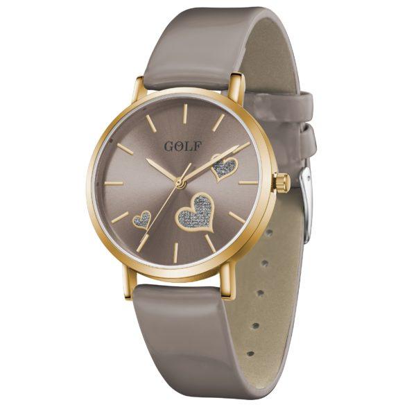 שעון יד מדגם GOLF-TRUE-HEART G3-2 בצבע בוגר | קולקציית קיץ 2021