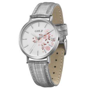 שעון יד לנשים ונערות מקולקציית קיץ 2021 | דגם קיץ פרחוני GO5-2 מסגרת כסופה