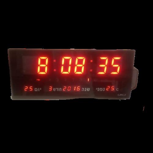 שעון קיר חשמלי מדגם גולף 3615 אדום - יחסית קטן בסדרת שעוני הקיר החשמליים הגדולים