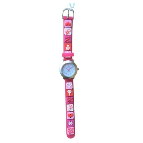 שעון ילדות מדגם DREAM-GIRL09 | לבבות בכפתורים מתוקים