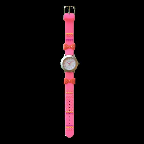 שעון ילדות מדגם GIRL-DREAM12 |  פפיון פולקדוטס כתום