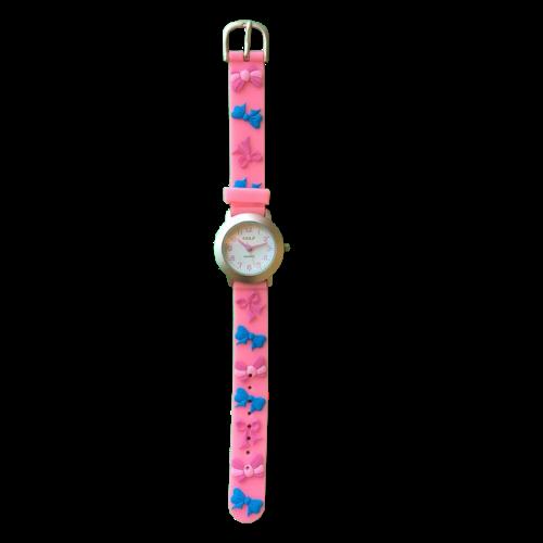 שעון ילדות מדגם CUTY-GIRL14 | פפיונים מתוקים כחולים וורודים